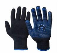 Перчатки Люкс, черные (6 нитей)
